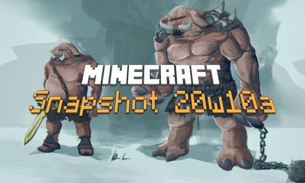 Snapshot 20W10a : Minecraft 1.16