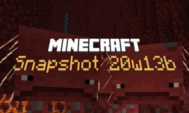Snapshot 20w13b : Minecraft 1.16