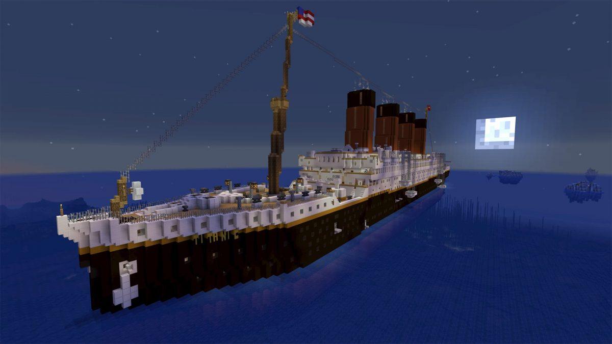 Titanic Survival 2 : une vue d'en haut du bateau