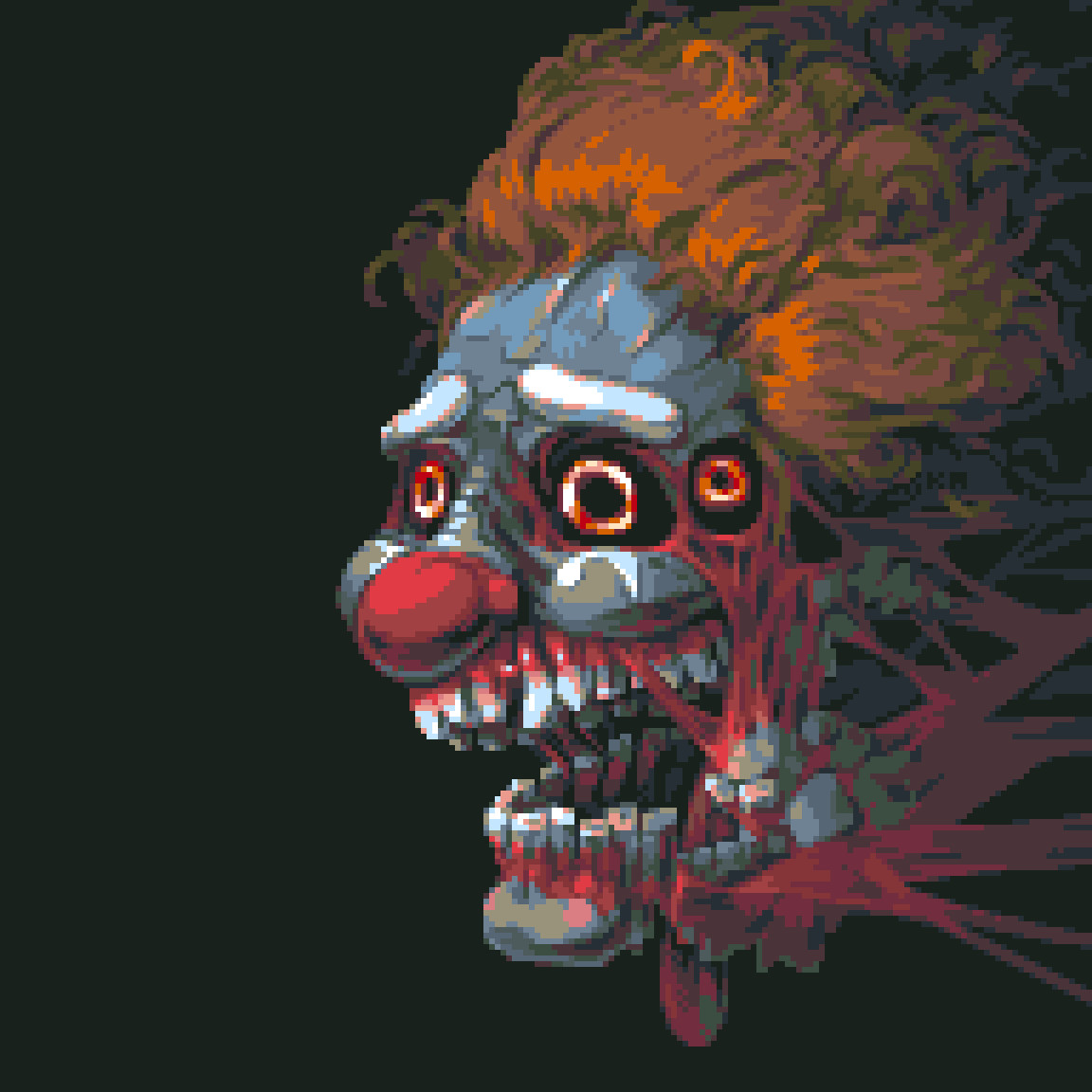 Pixel Art par Valerii Kim : Clown