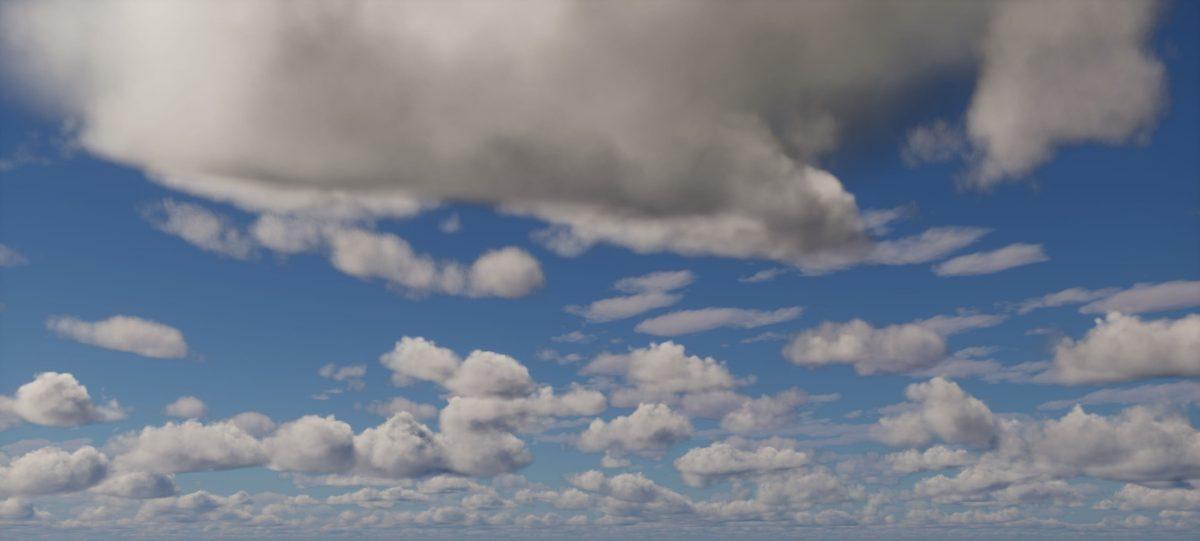 Ymir Graphic Shader : le ciel avec des nuages
