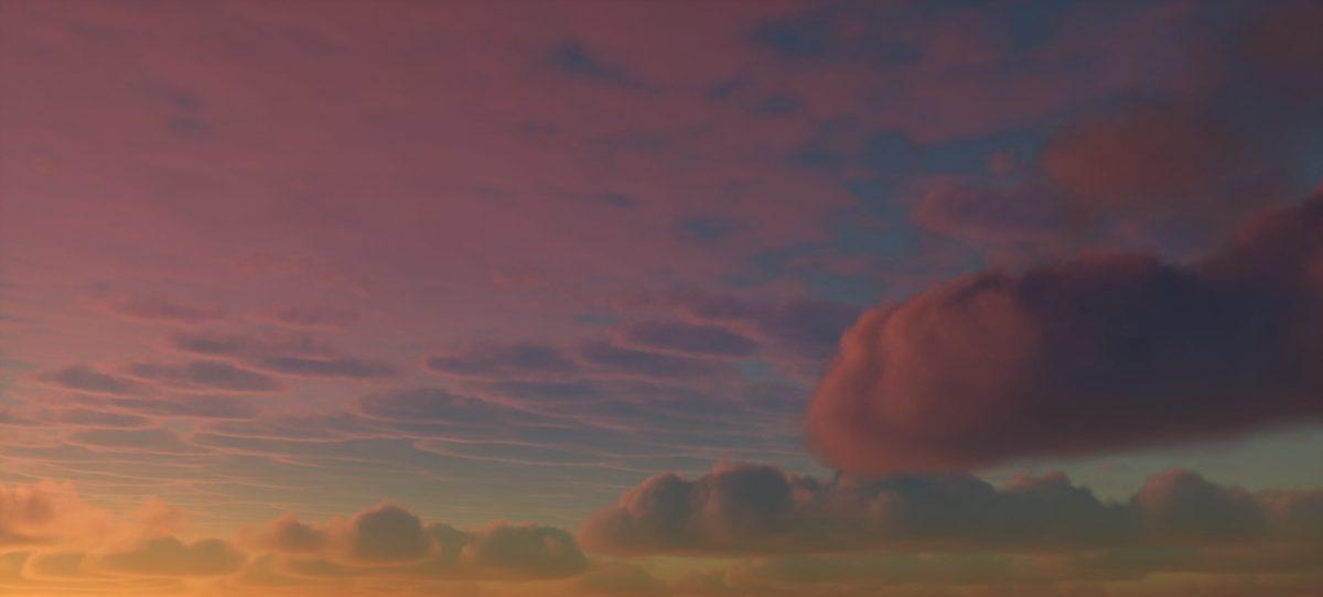Ymir Shader : un beau couché de soleil
