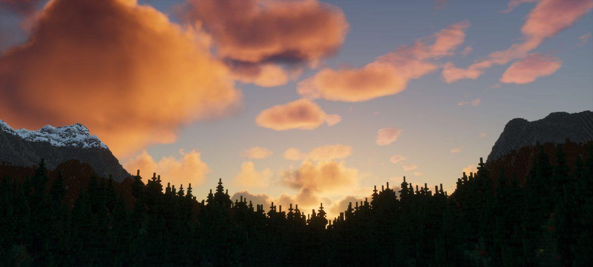 Ymir Graphic Shader : le soleil derrière une colline