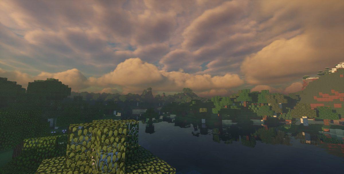 Ymir Shader : un lac avec une forêt