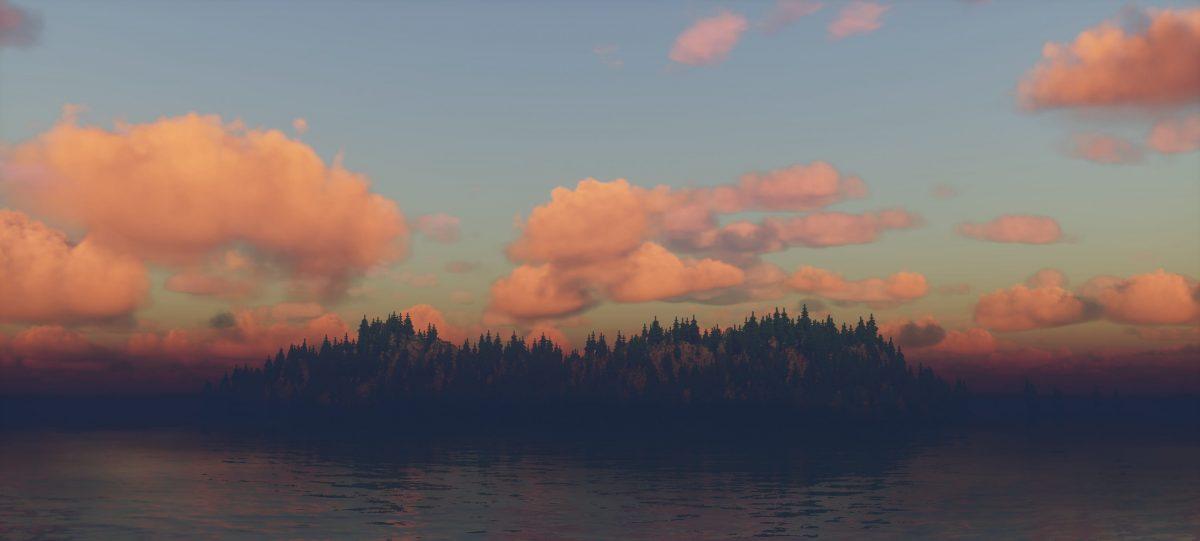 Ymir Graphic Shader :  une forêt avec une rivière