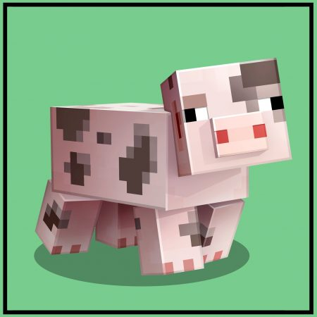 cochon tacheté minecraft earth