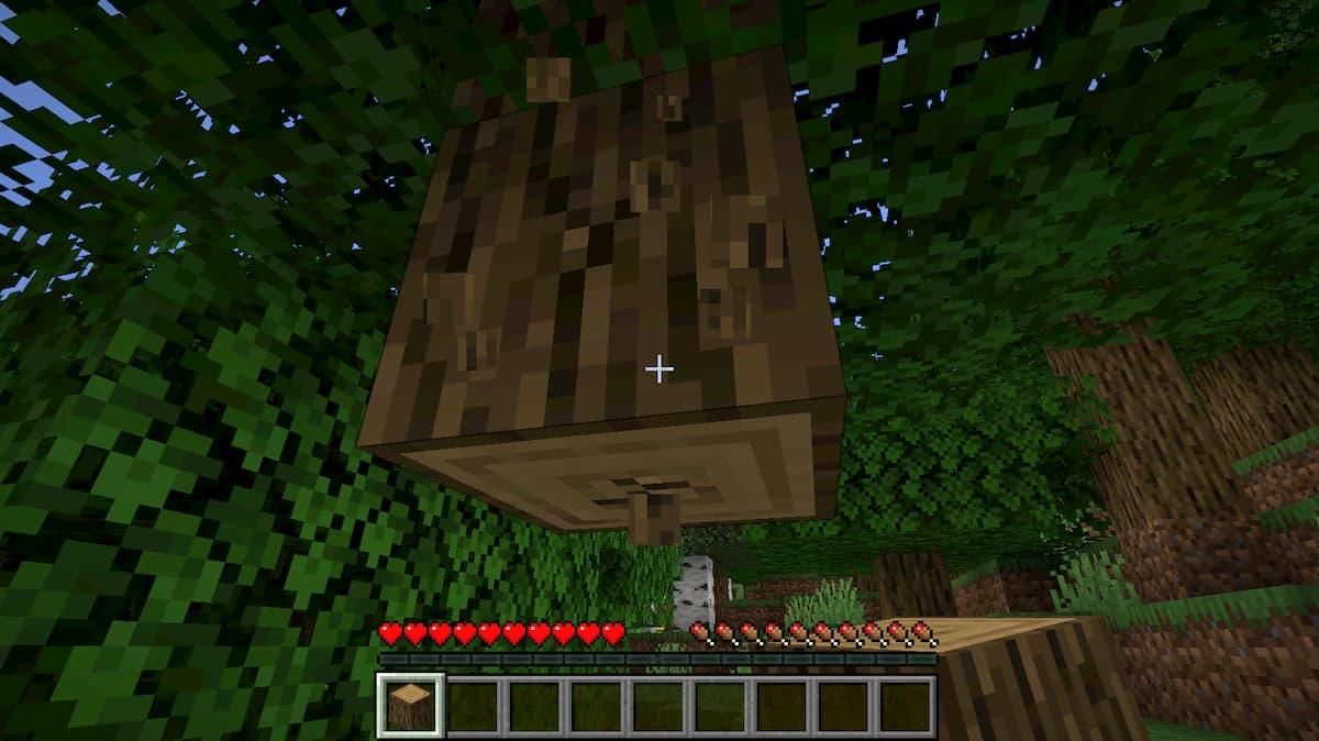 Pour faire un lit dans Minecraft, commencez à récolter du bois