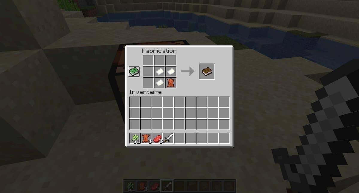 Comment faire un livre sur Minecraft : utiliser le papier et le cuir pour crafter le livre