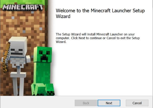 Installer Minecraft Windows : Lancer l'installateur
