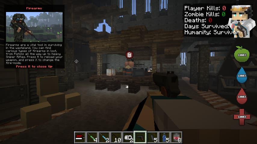 decimation mod minecraft : début de partie