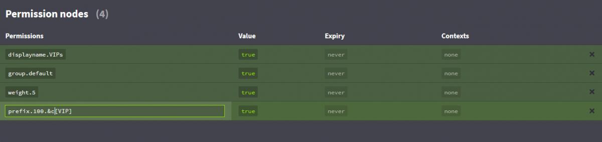 LuckPerms - Modifier le préfixe