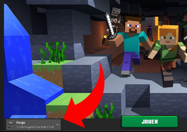 Installer Forge sur Minecraft : profil forge launcher