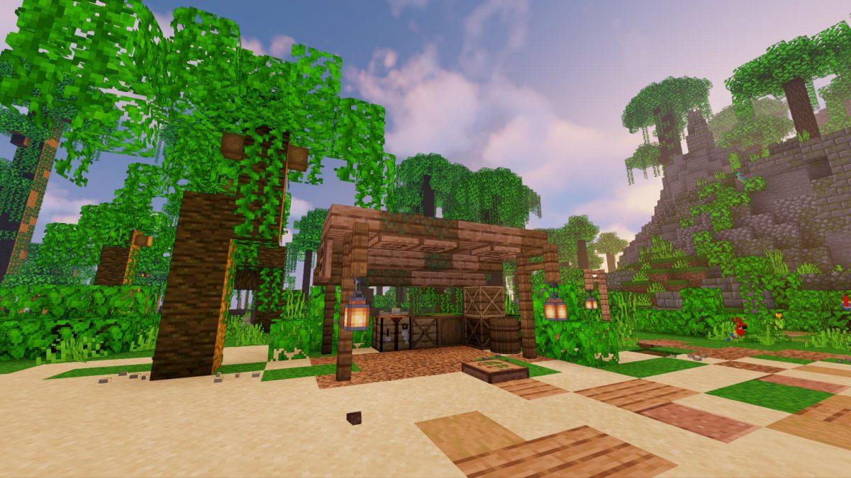 C'est depuis ce lieu que vous pourrez construire vos objets.
