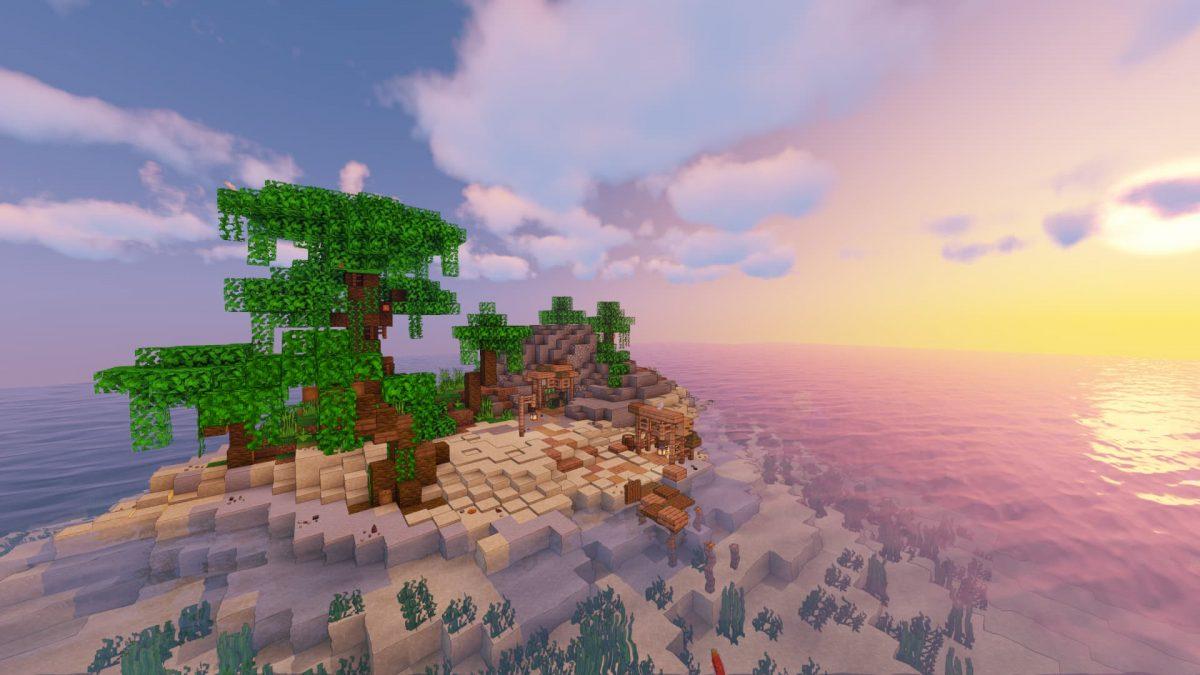 C'est sur l'île un peu plus petite et exentrée que vous pourrez trouver du fer.