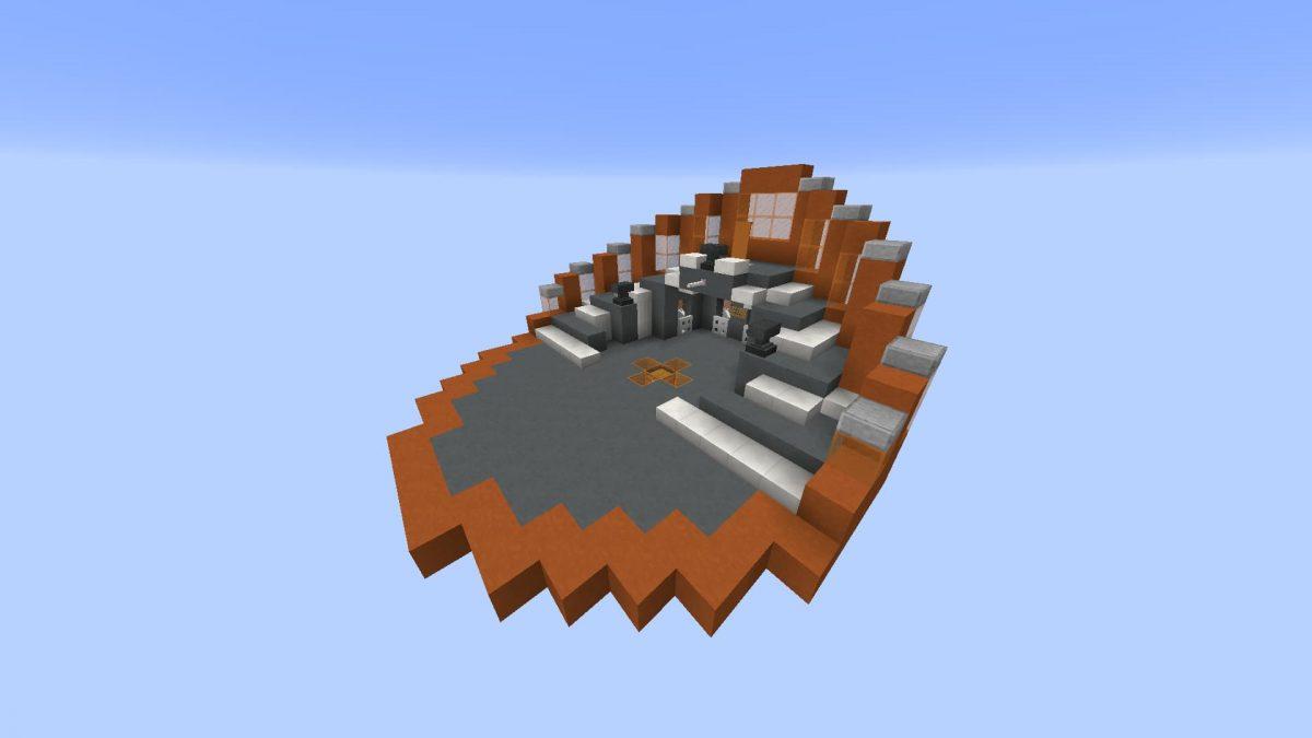 Map Minecraft Rush Reloaded : le lobby orange