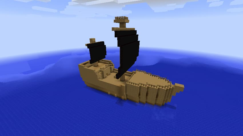 Mine Mine no Mi, mod Minecraft One Piece : un bateau de pirate