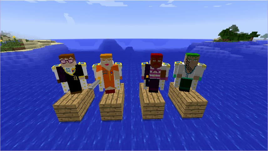 Mine Mine no Mi, mod Minecraft One Piece : des commandants de la marine