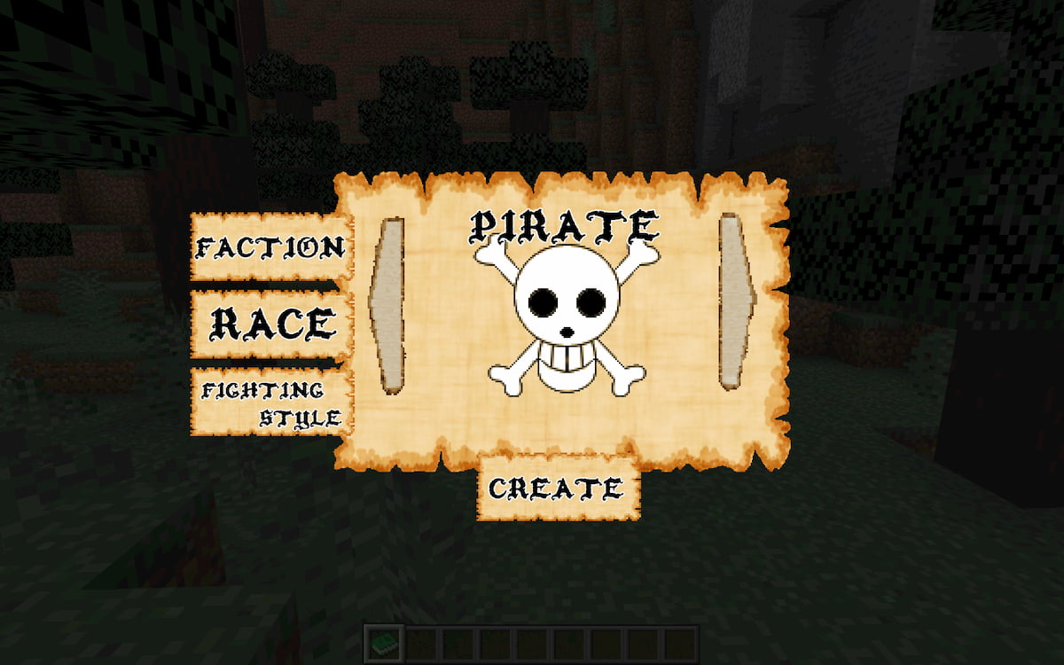 Mine Mine no Mi, mod Minecraft One Piece : CHoix Faction