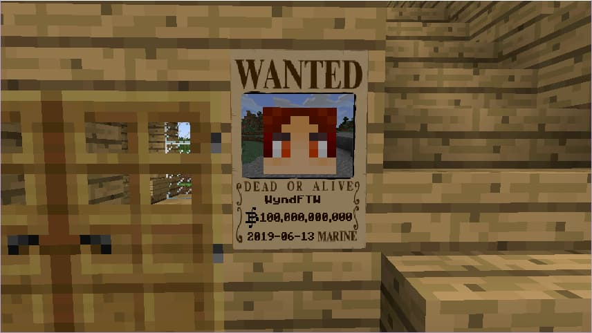 Mine Mine no Mi, mod Minecraft One Piece : un avis de recherche