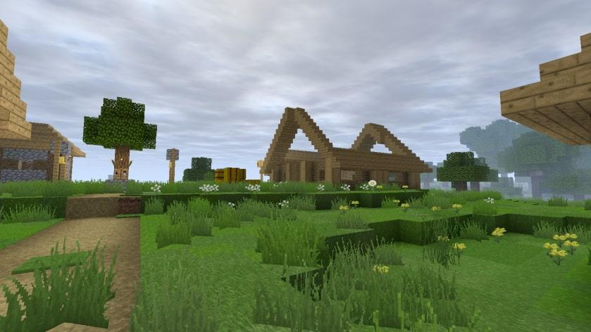 Steven's Tradionnal 64x64 : une maison en construction