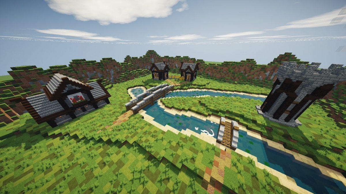 Steven's Tradionnal 64x64 : quelques maisons