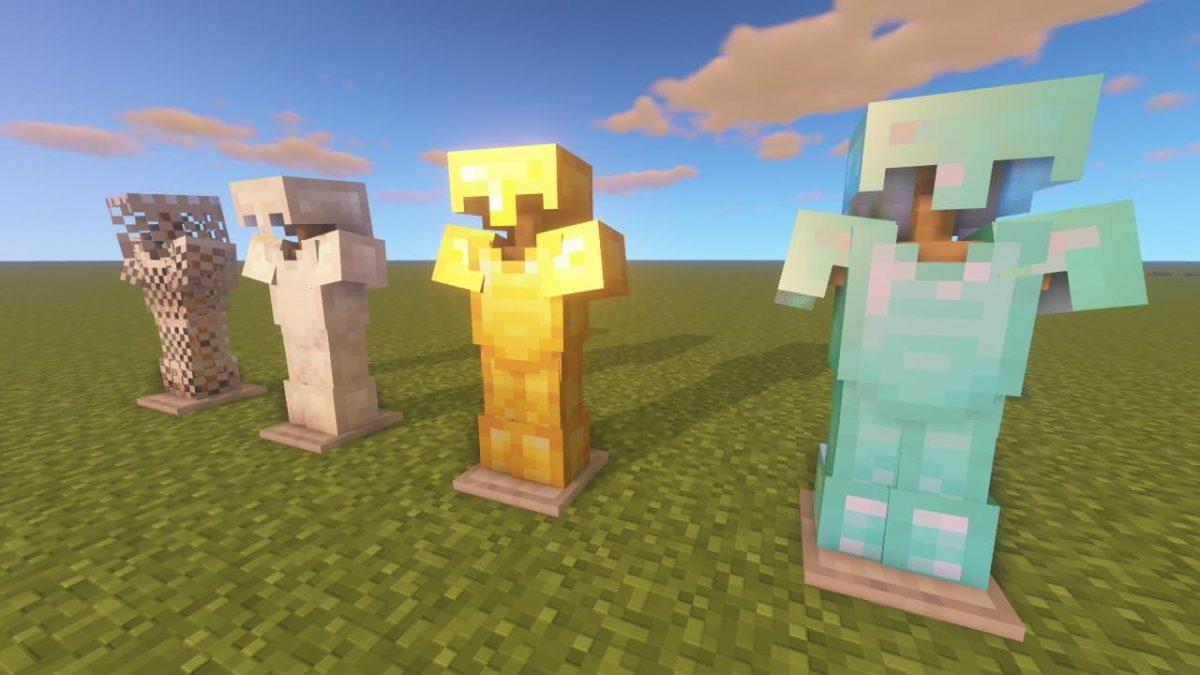 Vanilla PBR - Pack de Textures Minecraft : les armures