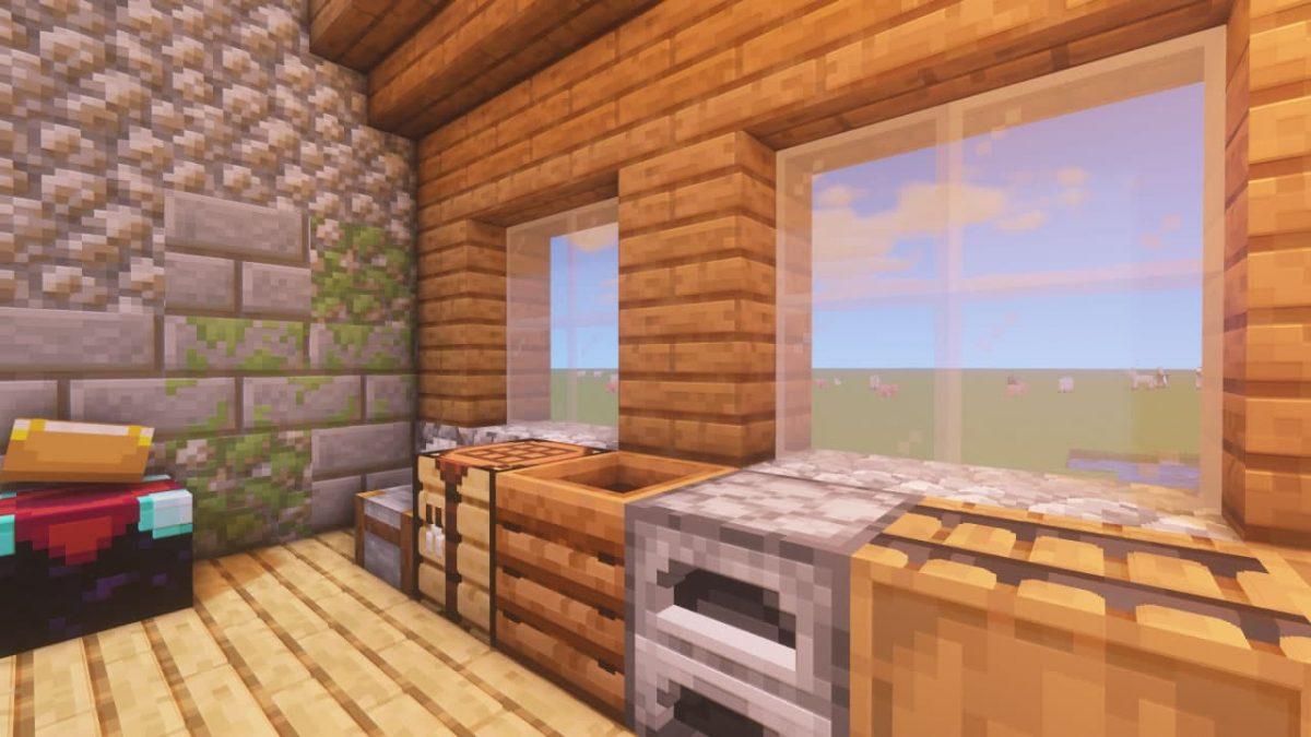 Vanilla PBR - Pack de Textures Minecraft : à l'intérieur d'une maison