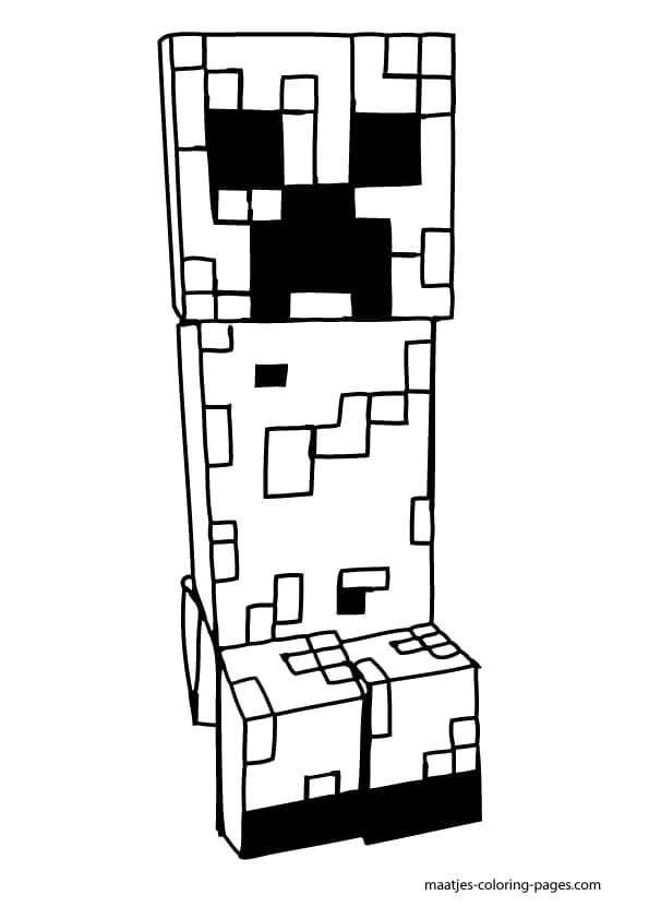 Coloriage Minecraft de Creeper