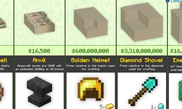 Comparaison du prix des objets dans Minecraft