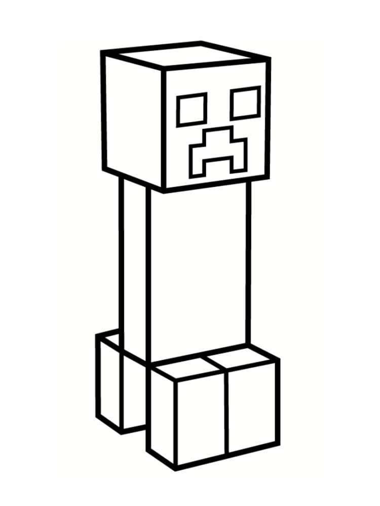Dessin Minecraft de Creeper