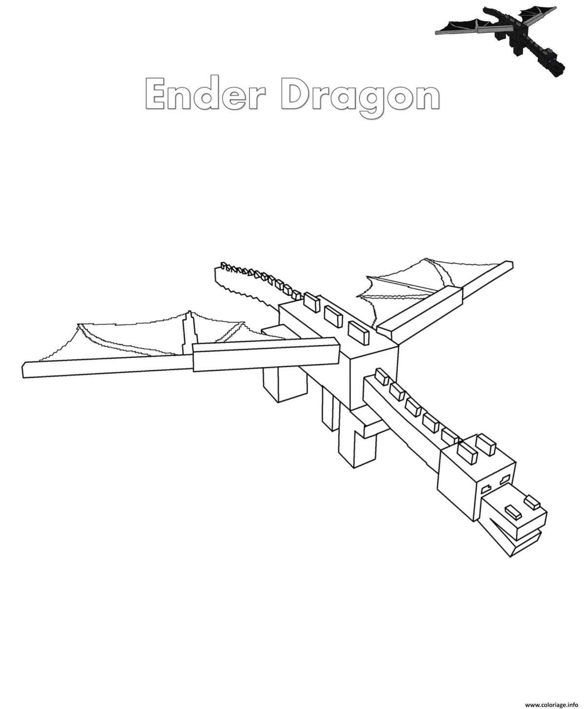 Dessin Minecraft Ender Dragon