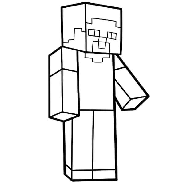 Dessin Minecraft de Steve