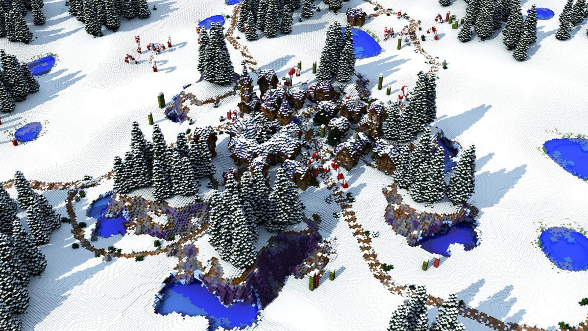 Map fallen kingdoms saison 8 : le village dans le monde gelé