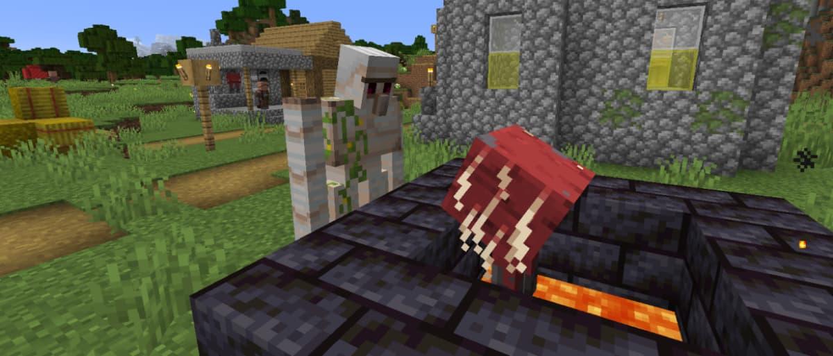 Minecraft snapshot 20w19a : un golem de fer et un arpenteur