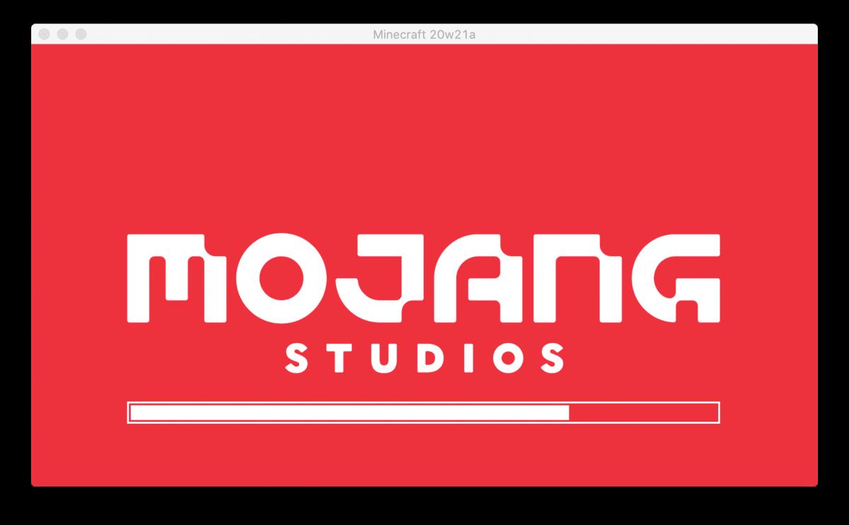 Le nouveau logo de chargement de Mojang Studios dans la Snapshot 20w21