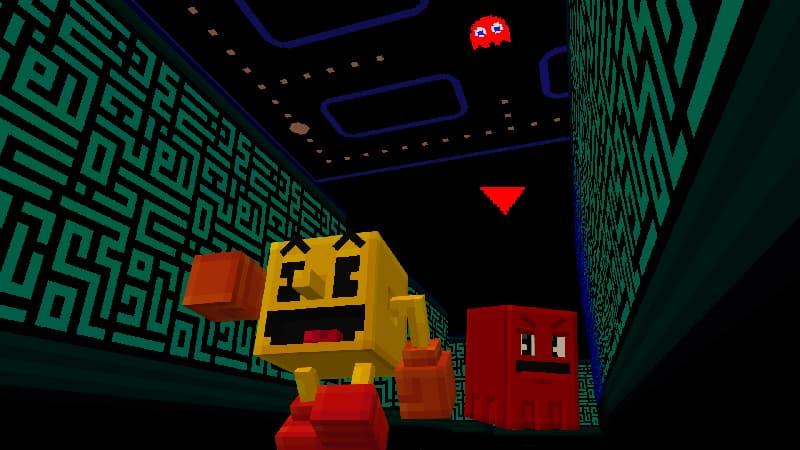 pac-man dans minecraft : pac man et des fantômes