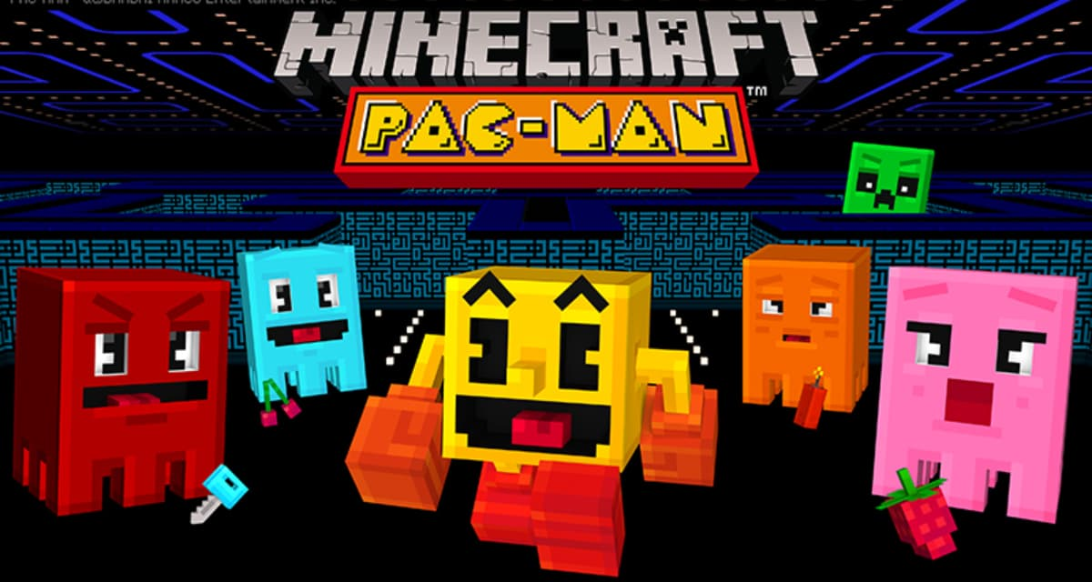 PAC-MAN – DLC Map & Skin Minecraft Bedrock Edition