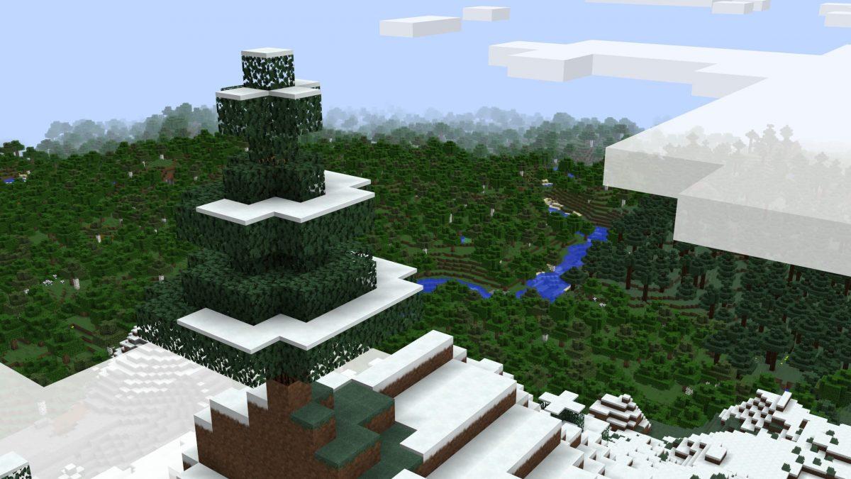 Pack de texture R3D CRAFT : vue au dessus d'une forêt