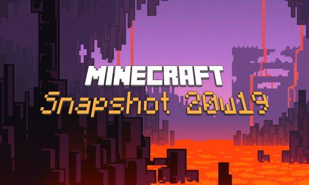 Snapshot 20w19a : Minecraft 1.16