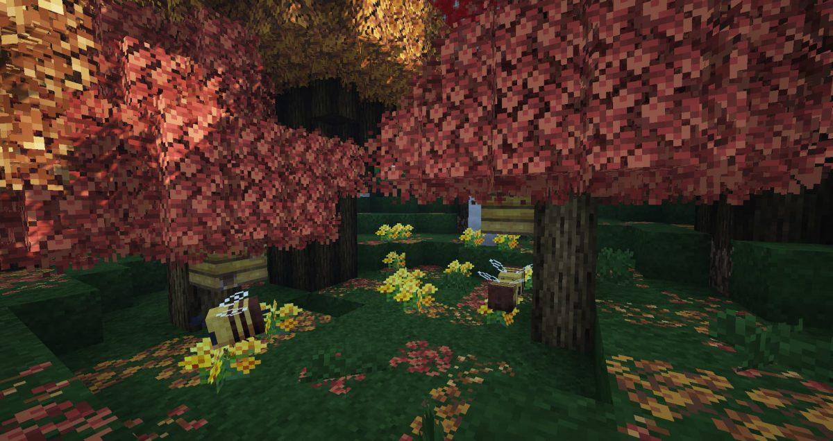 Better Vanilla Building : une forêt avec des abeilles
