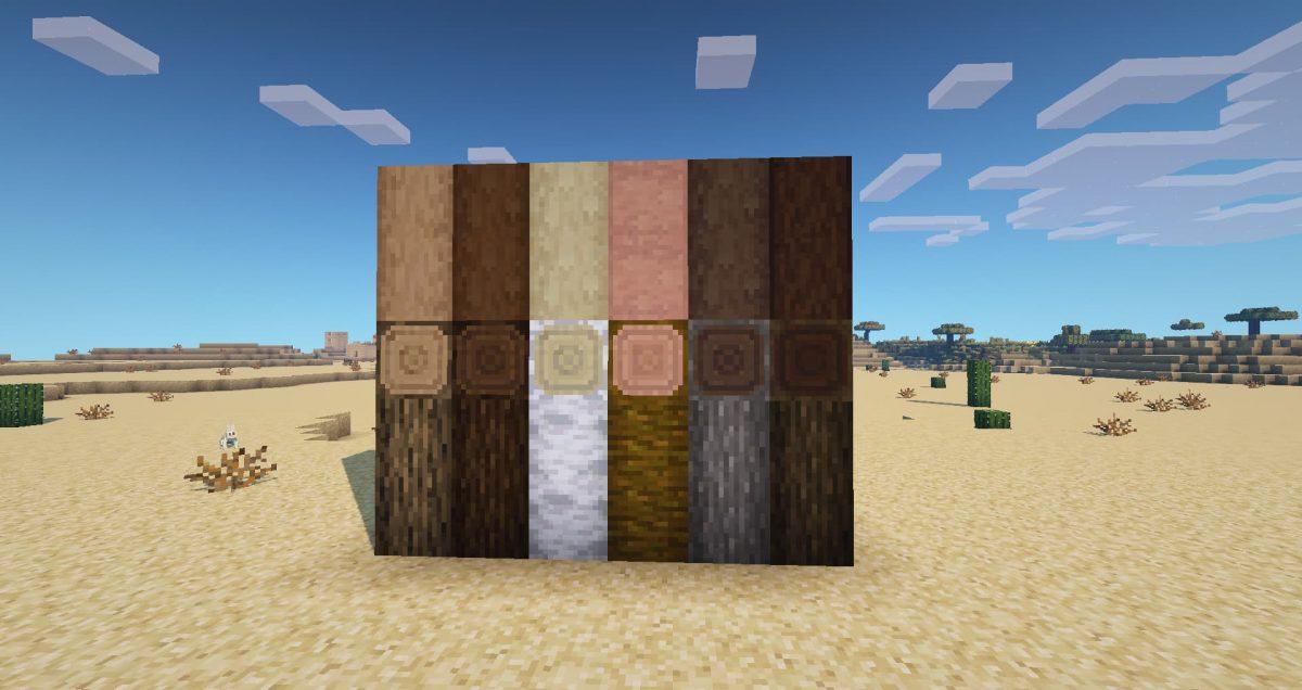 Better Vanilla Building : les blocs de bois