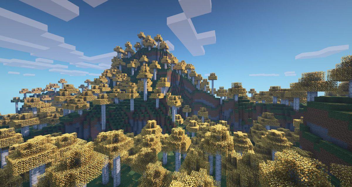 Better Vanilla Building : une forêt avec des arbres