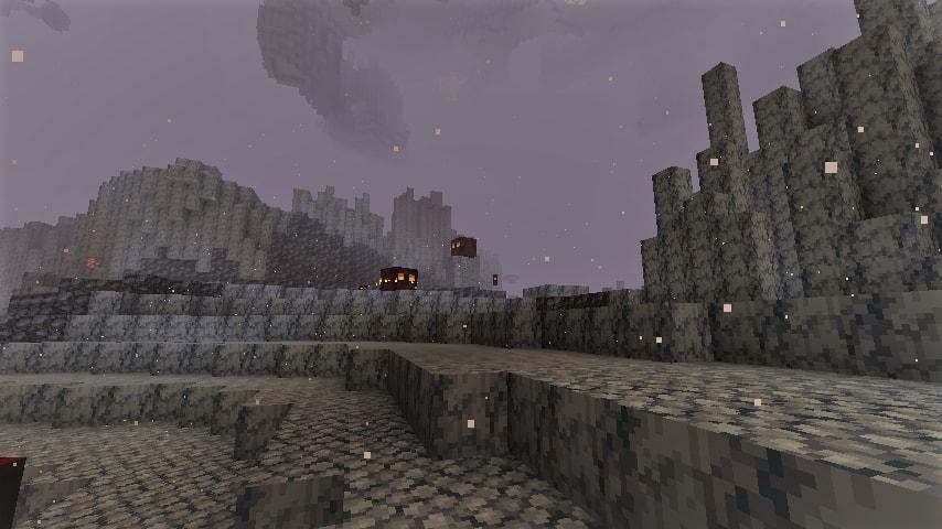 Biome de deltas de basalt dans Minecraft 1.16 clair