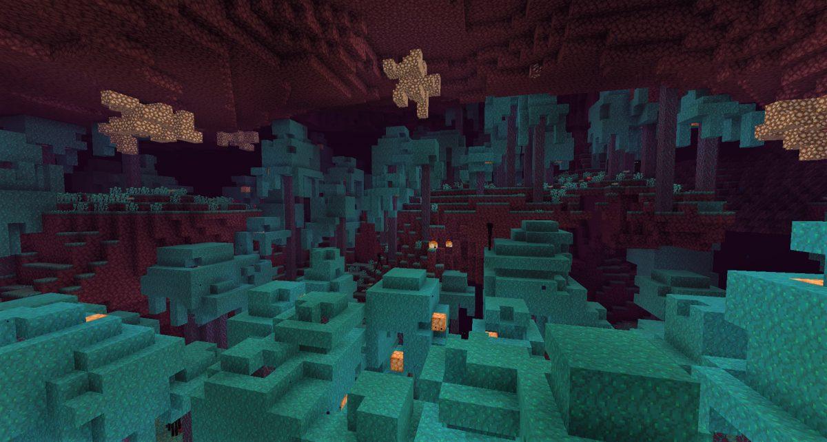 Forêt biscornue biome de Minecraft 1.16