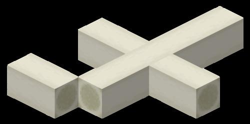 Un sternum horizontal.