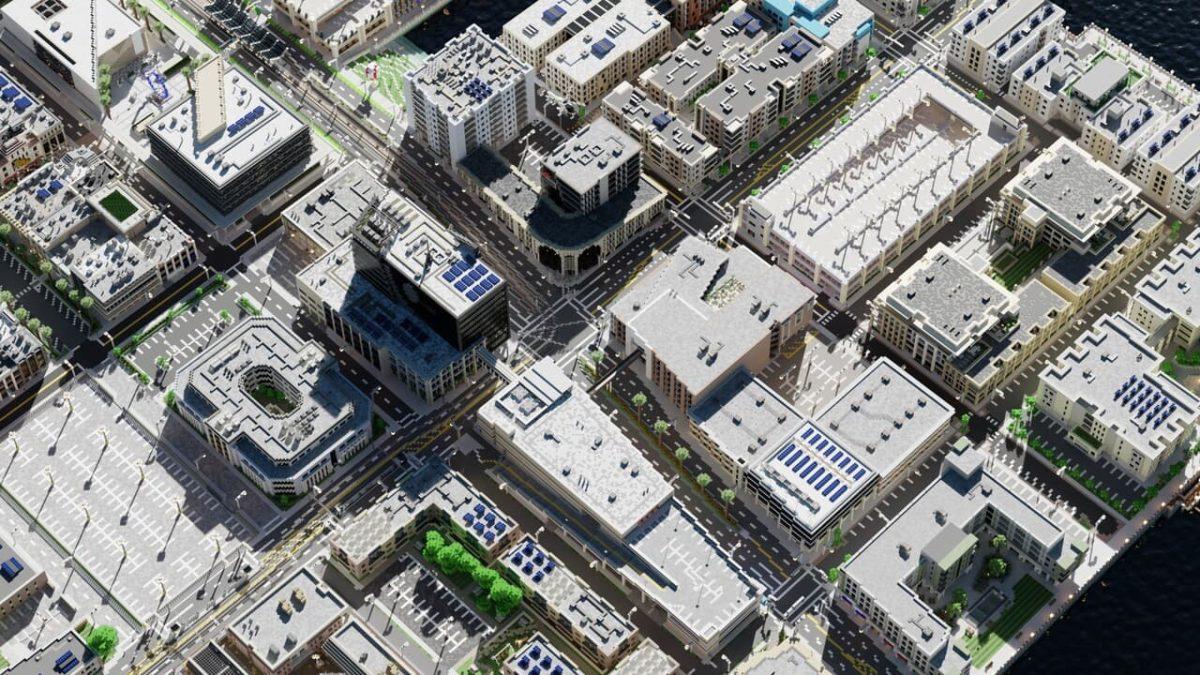 Greenfield : Vue aérienne du centre commercial