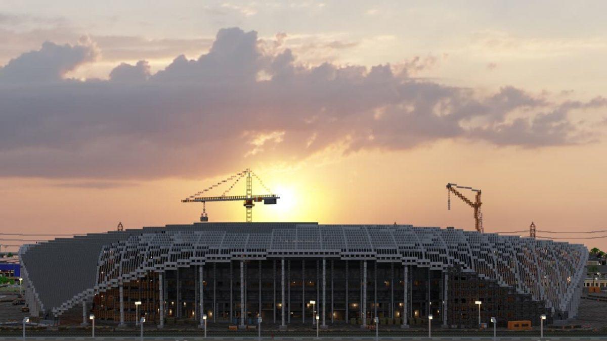 Greenfield : Le stade en cours de construction