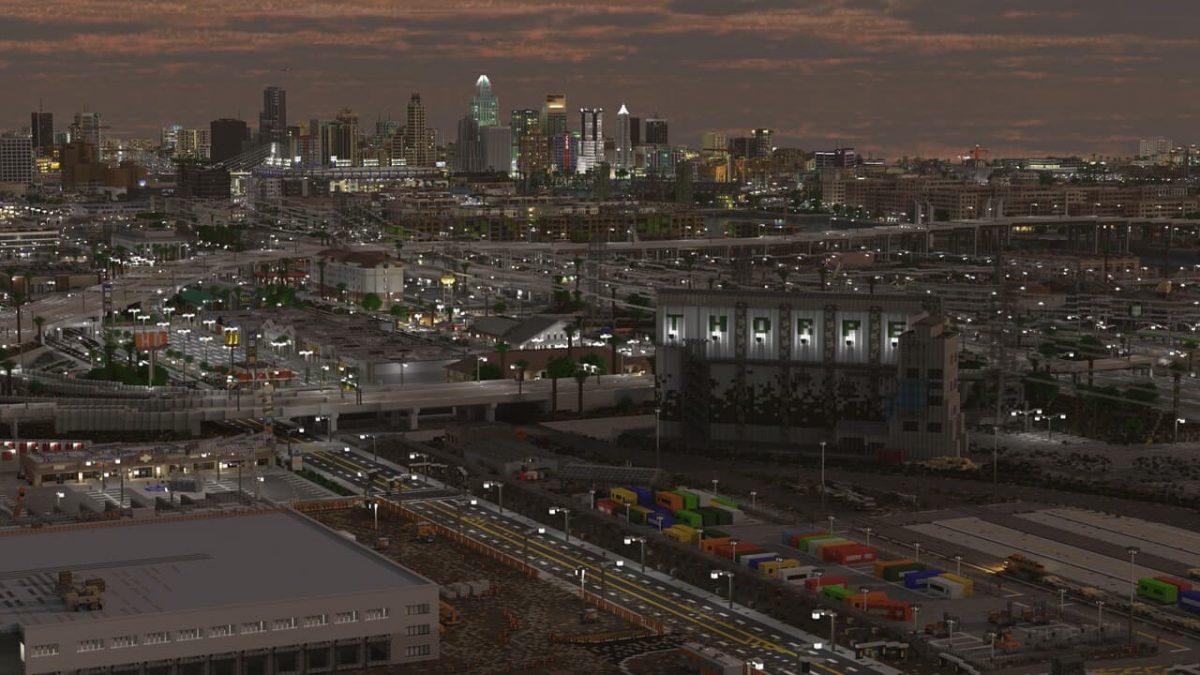 Greenfield : Une vue lointaine de la ville au levé du soleil