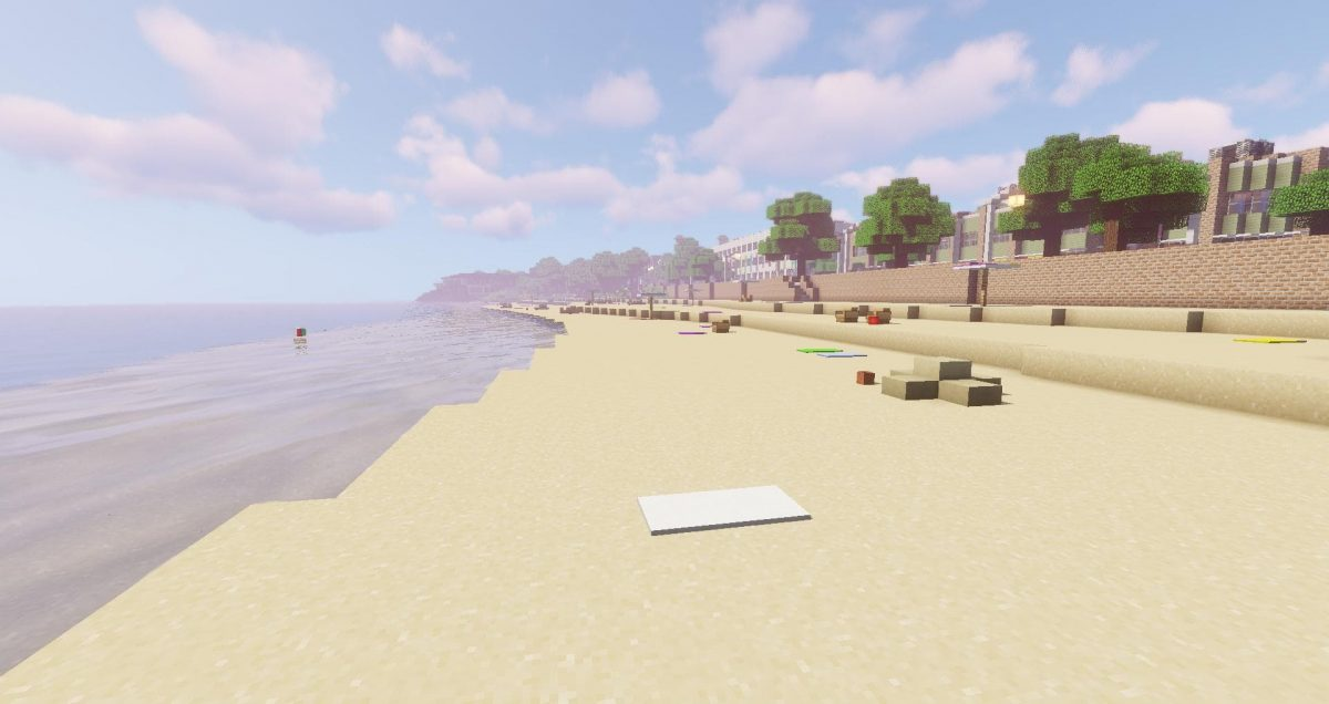 plage sur la map minecraft greenfield