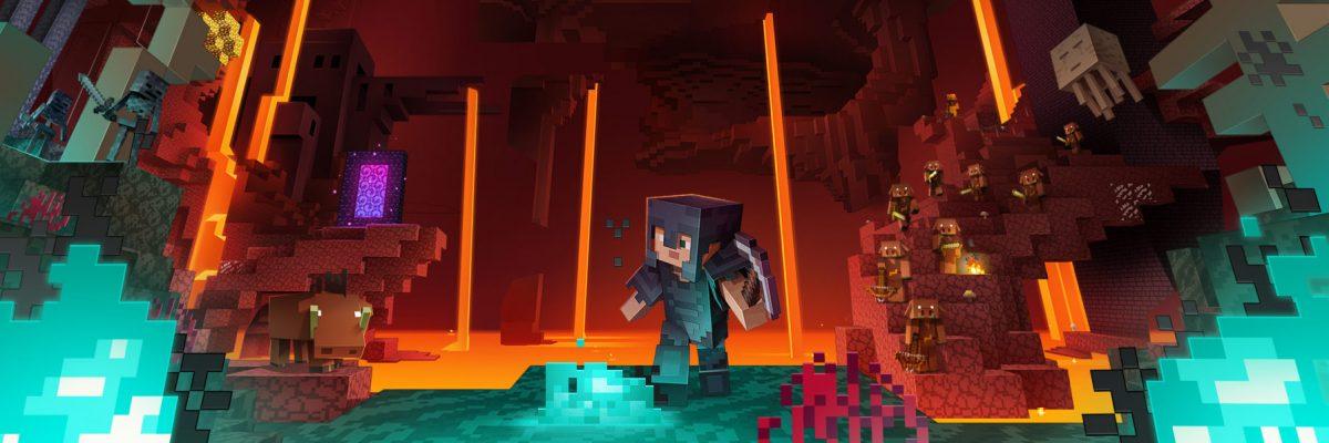 illustration officielle de la mise à jour 1.16 de Minecraft